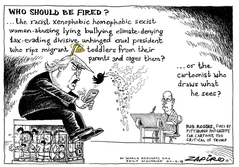 How we're looking from afar. South African cartoonist @Zapiro. zapiro.com/3 #robrogers