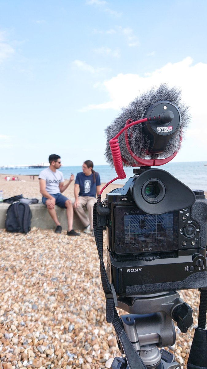 More filming today, this time with @DanDaRocha and @GreyAlien #developconf