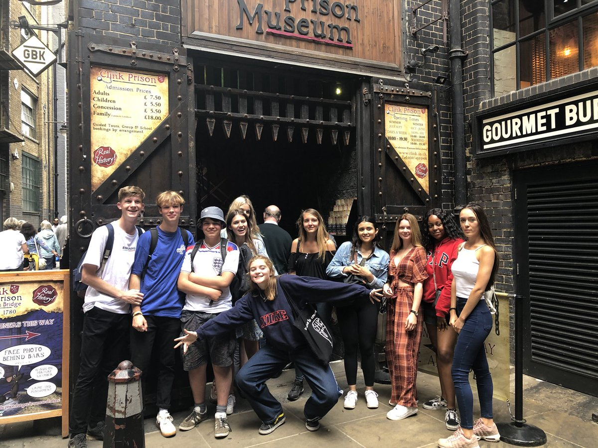 #WiderSkillsWeek Day 2, afternoon: The Clink Prison Museum! #EsherCollege #EsherSociology #WSW