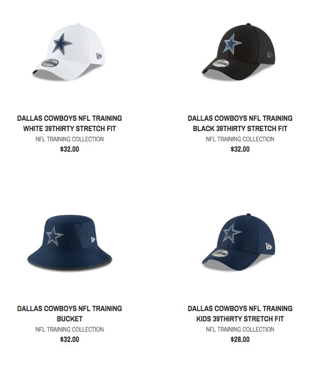 6782f3121d3694 Cowboys training camp hats have been released by @NewEraCap. Which one is  your favorite?pic.twitter.com/JnGvLdqImH