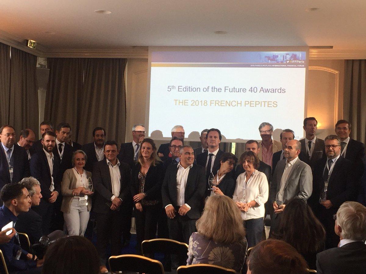 Les 40 entreprises cotées les plus performantes en #Bourse, lauréates du #Futur40, réunies autour de @oliviagregoire et de @JeanRognetta #IFFParis  - FestivalFocus