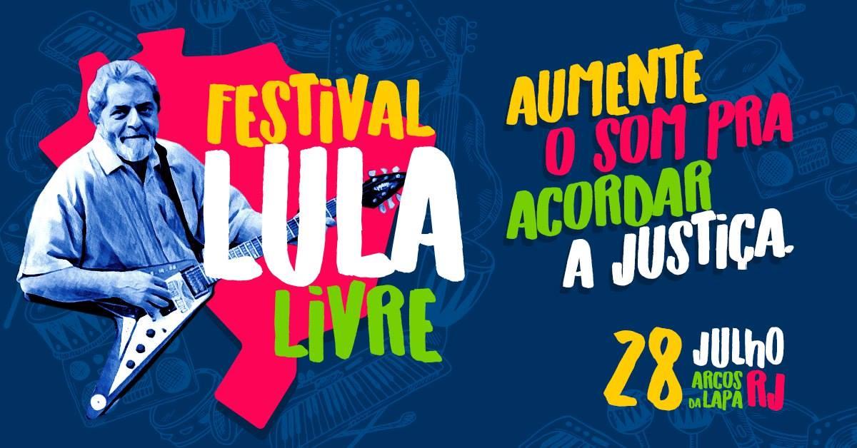 Festival Lula Livre! Dia 28 de julho, no Rio de Janeiro > https://t.co/KBuIiQLDeH #LulaLivre