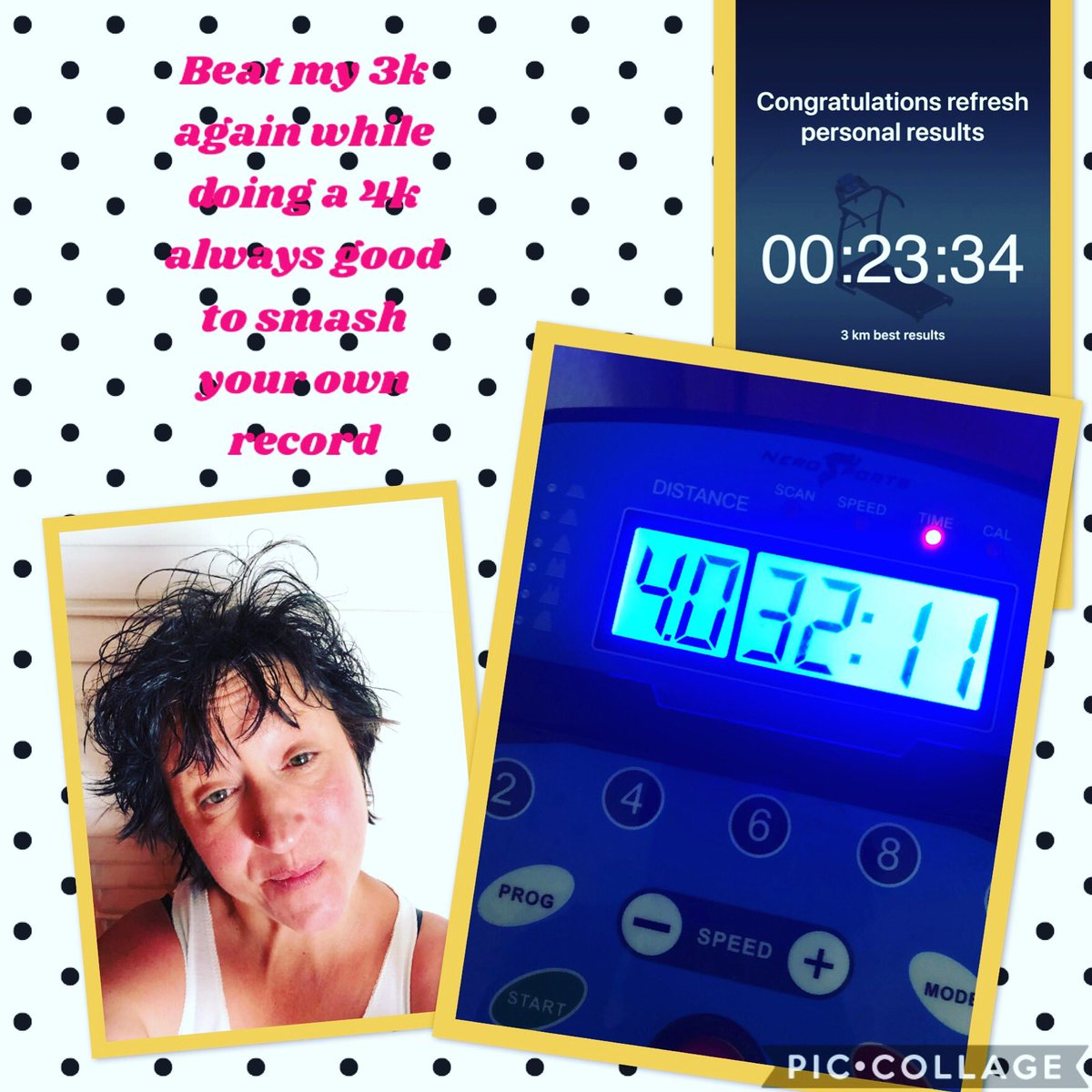 Love smashing my own records!!! Be it small does not matter 4 months ago i could not even manage 1k #results #treadmillworkout #treadmilllife #treadmillgoals #wednesdayvibes #dailyexcercise #onesimplechange #lovemylife<br>http://pic.twitter.com/WMqzlGY4Is