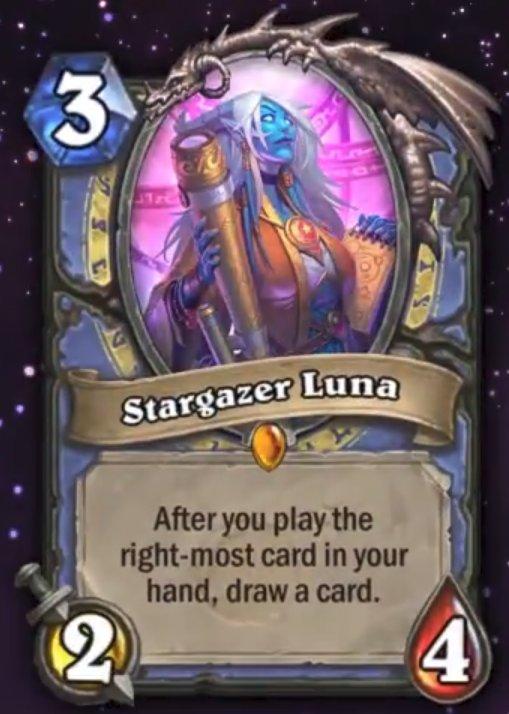 【新カード】 メイジのレジェンドミニオン。 効果は「自分の手札の一番右からカードを使用したとき、カードを1枚引く」  新拡張詳細
