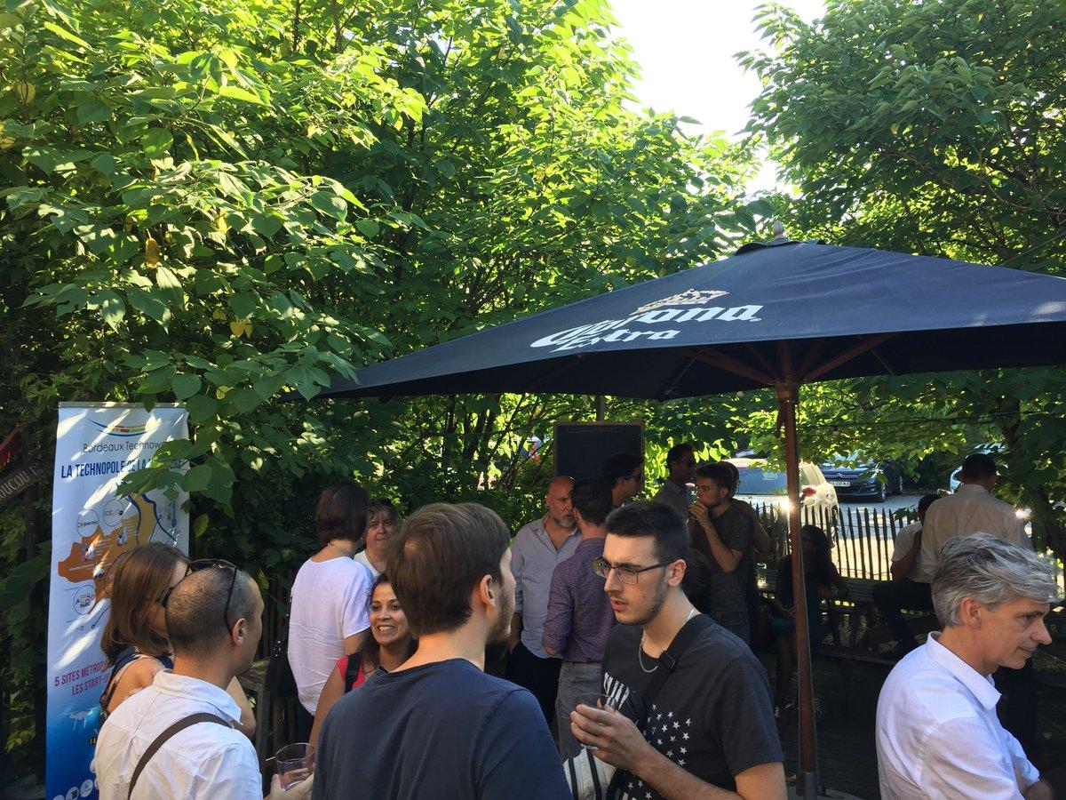 Et c'est parti pour l'Aperowest, le rendez-vous estival des #partenaires et #startup de la technopole ! Bonne ambiance chez Lulu dans la prairie 😋🍹