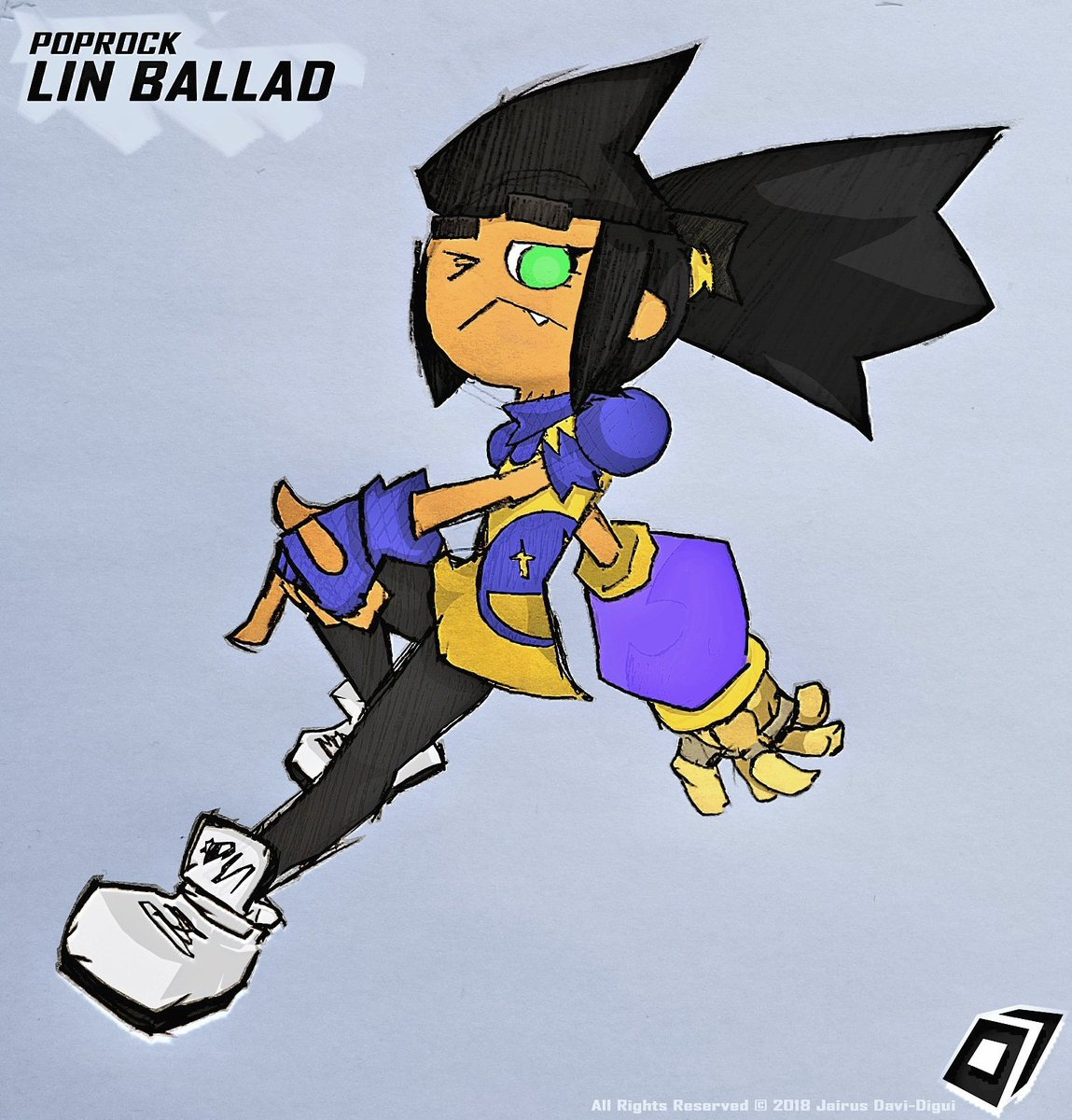 LIN BALLAD An Embodiment Of 90s Attitude With A Love For Adventure And Donairs POPROCK POPROCKgame Sketch