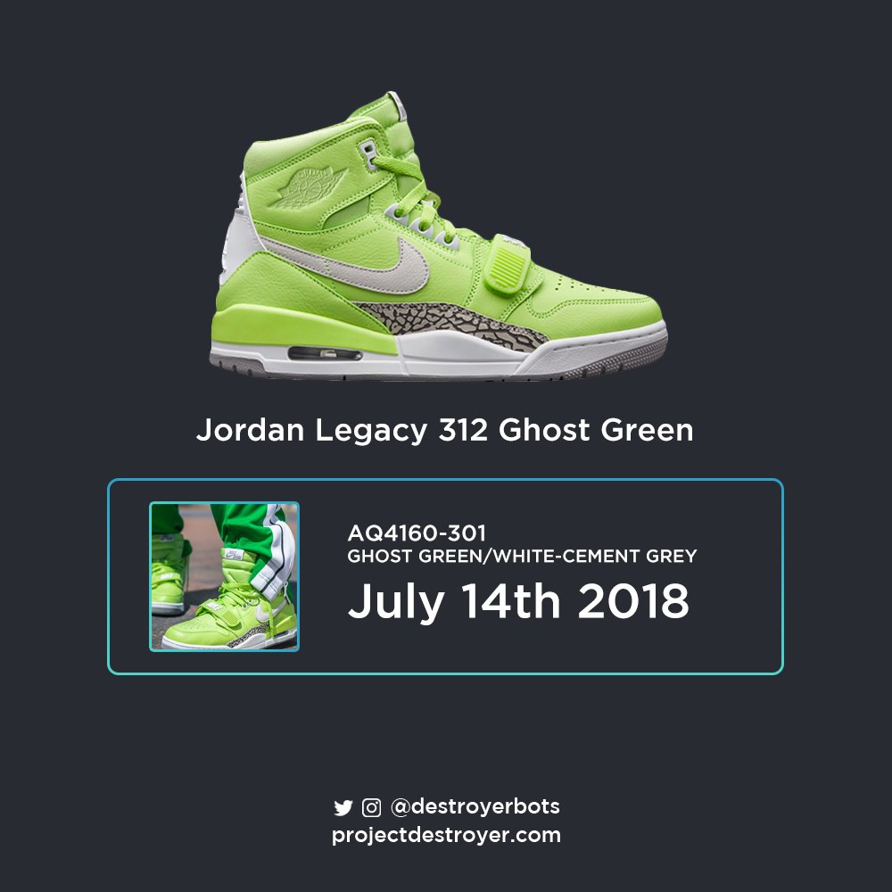 74287ad45be ... The Legacy 312 s are coming out in both a ... Ghost Green Don C x Jordan  ...