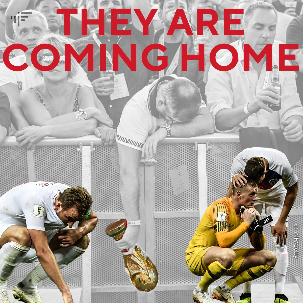 But IT is not coming home... #CROENG #ThreeLions #ItsComingHome
