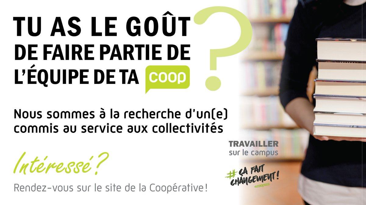 La CoopUdeS recherche un(e) commis au service aux collectivités ! Pour postuler: https://t.co/OqktFFYX1Q https://t.co/mHK8H2Mz6V