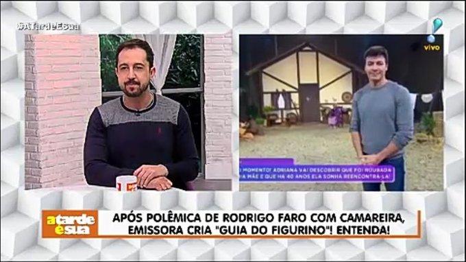 Após polêmica de Rodrigo Faro com camareira, emissora cria Guia do figurino! Entenda! #AtardeEsua Foto