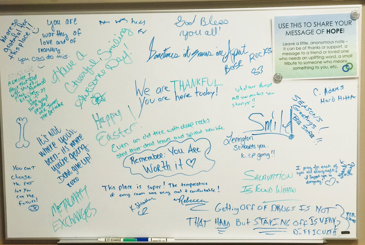 lexky health dept on twitter the message board outside our needle