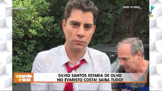 Eita! @evaristocosta estaria na mira de @SilvioSantos para o programa Topa ou não topa #ATardeESua Foto
