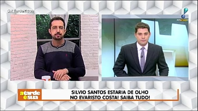 Silvio Santos estaria de olho no Evaristo Costa! Saiba tudo! #AtardeEsua Foto