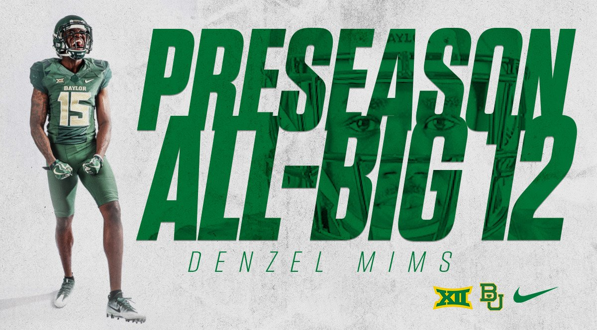 Junior wide receiver Denzel Mims named to Preseason All-Big 12 team  #SicEm    http:// baylorbea.rs/2L5sxDQ  &nbsp;  <br>http://pic.twitter.com/TOsX3ScfOI