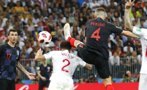 GOAL! #ENG 1, #CRO 1 -- Perisic just beats Walker to a cross in the 68th minute, and goes off the post moments later. All even again in Moscow. #WorldCup #ENGCRO @GDunbarAP @RobHarris @jellingworth apne.ws/KFWC2IY