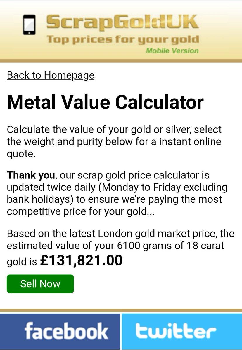 18 carat gold price calculator