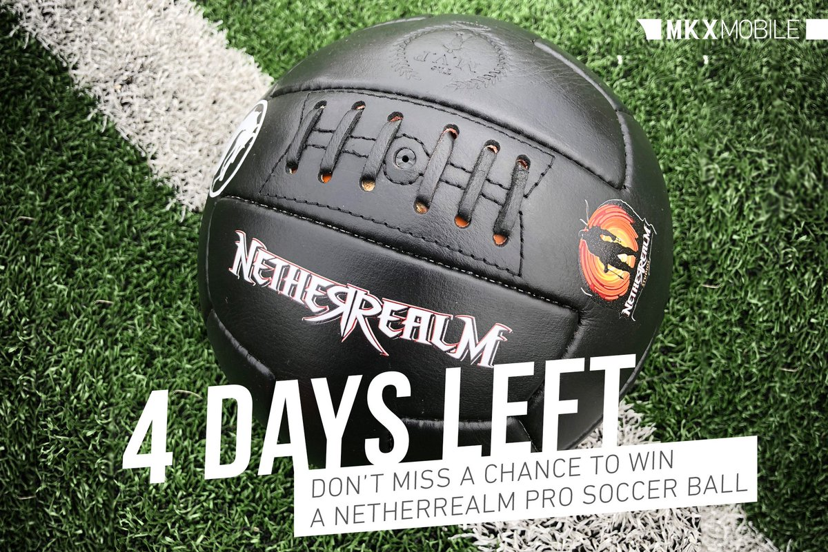 The game clock is winding down. Only 4 days left to submit your best Mortal Kombat inspired #soccer cosplay or fan art for a chance to win a NetherRealm branded soccer ball! #KombatCup #Sweepstakes #MKXMobile