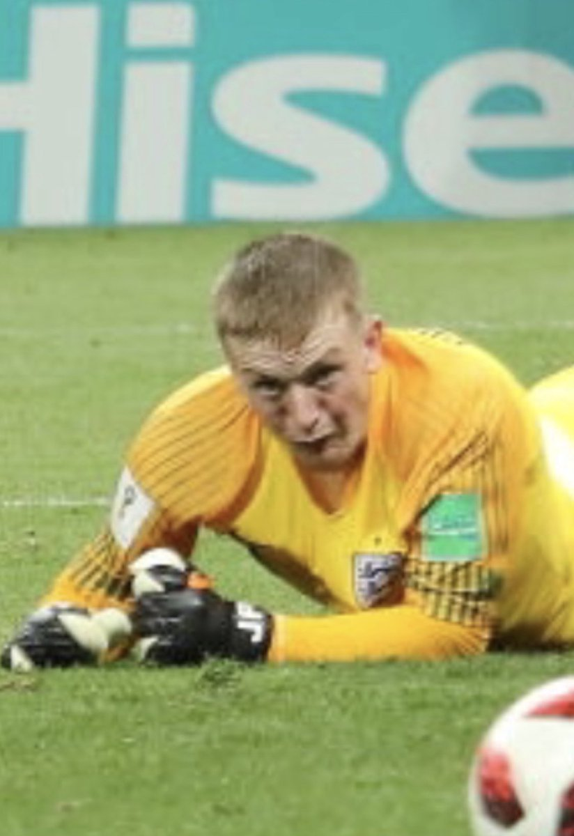 Jordan Pickford was every England fan holding their breath as Croatia hit the post 😶  #ENGCRO #WorldCup