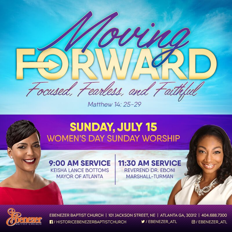 We're excited to have @Cityofatlanta Mayor @KeishaBottoms &amp; Rev Dr @ebonithoughts sharing with us this Sunday during our Women's Day Service! #WomensDay <br>http://pic.twitter.com/prdPK9vj64