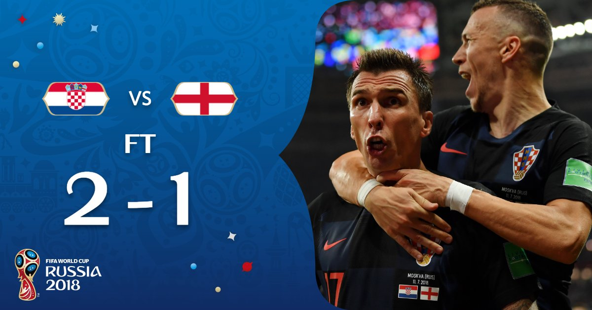 #CRO WIN!   @HNS_CFF are in the #WorldCupFinal!   #CROENG // #WorldCup