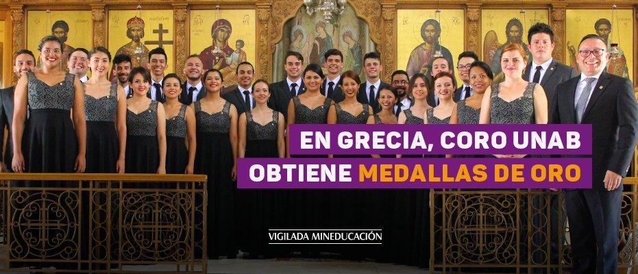 En Grecia, Coro UNAB obtiene medallas de oro - UNAB
