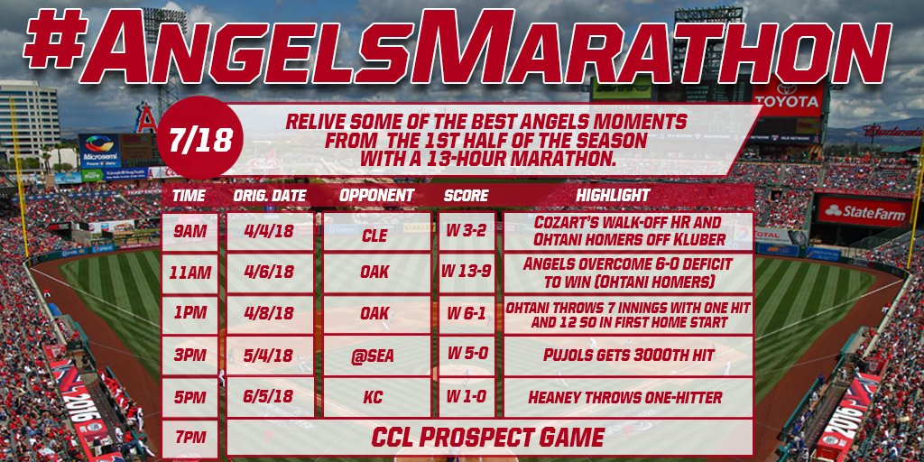 Done binging your favorite Netflix series? Well, @FoxSportsWest is serving up a 13-Hour @Angels Marathon tomorrow beginning at 9AM. You're welcome.