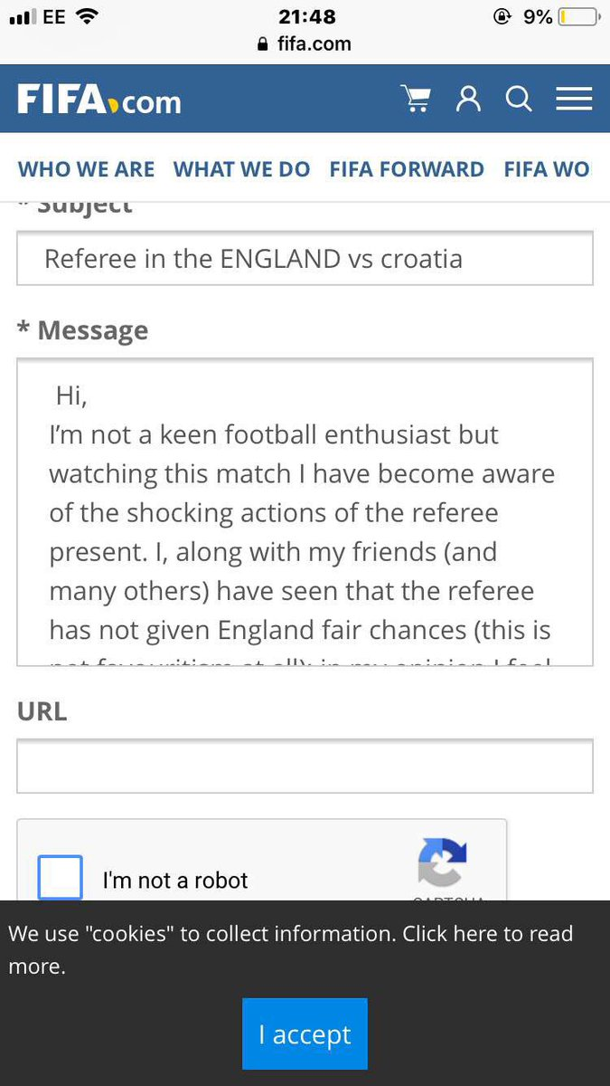 Grace isn't happy about it not coming home so she has resulted in emailing fifa #EnglandvsCroatia #CROvENG<br>http://pic.twitter.com/AgmLLZflSn