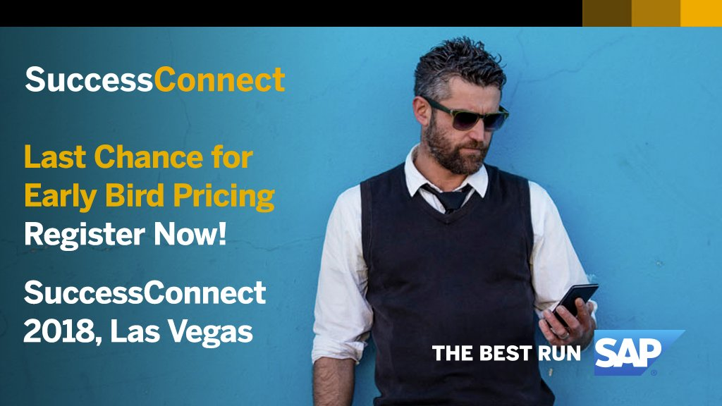 I'm registering today and look forward to seeing clients, partners and colleagues in Vegas! #SuccessConnect2018 #EPIUSE @EPIUSEAmerica