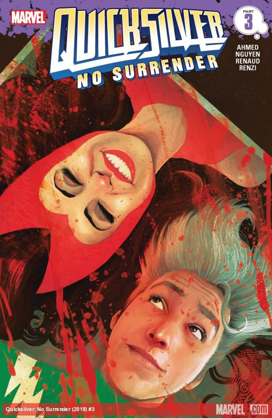 Scarce on Twitter because I'm on vacation but I have two new comics out today — QUICKSILVER: NO SURRENDER #3 and EXILES #5. Please buy them if you have any decency whatsoever. Hell, buy them even if you don't.