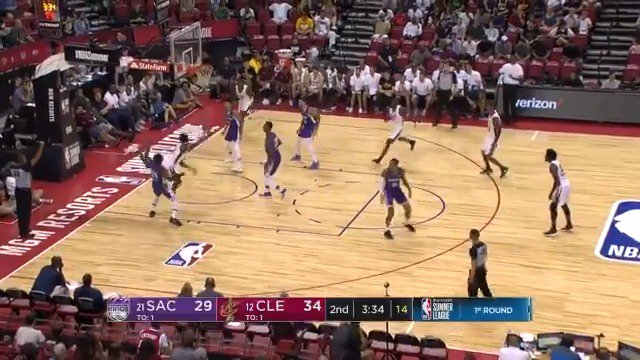 Collin Sexton with the circus shot, AND-1!  #NBASummer on @NBATV https://t.co/p8HwqIhMHz