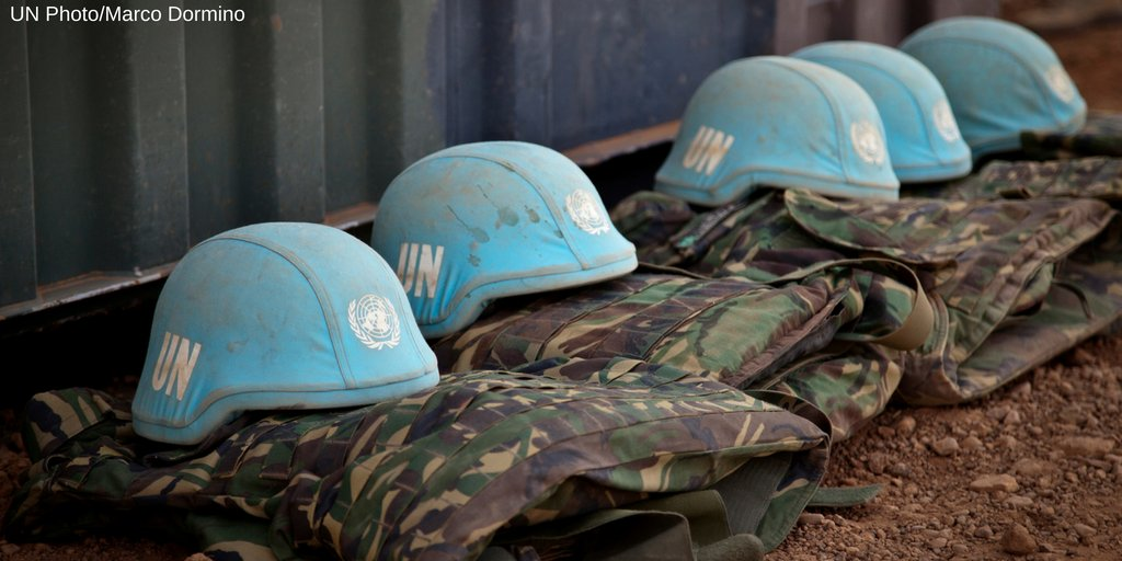 What is the origin of the blue helmets worn by @UN peacekeepers? #AskDag https://t.co/g4ogFug7ym https://t.co/XZJo4KSZam
