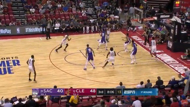 Collin Sexton floats it in!  #NBASummer on @NBATV https://t.co/C8okBL5Pcf