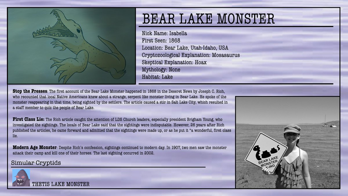 Bear lake monster bearlakemonstr twitter 2 replies 1 retweet 2 likes freerunsca Gallery