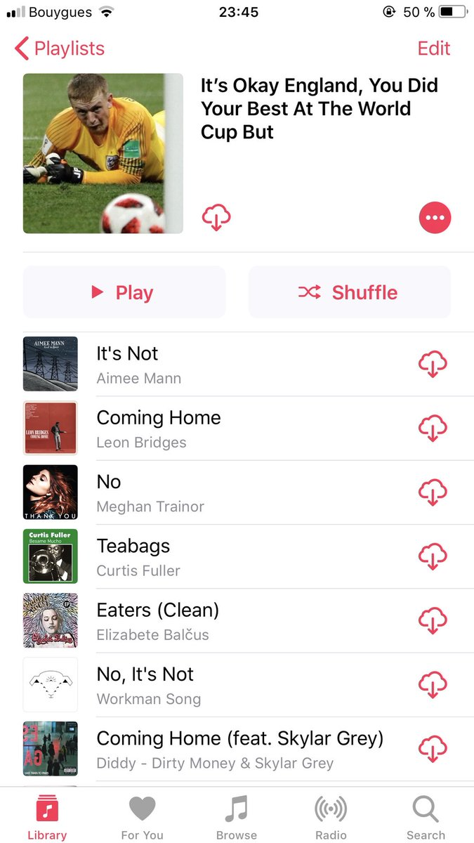 I think the brits need some new songs to cheer them up, I made a playlist with random songs, enjoy !#EnglandvsCroatia #CROvENG #Itsnotcominghome #CROENG<br>http://pic.twitter.com/pjQTzU7DVk