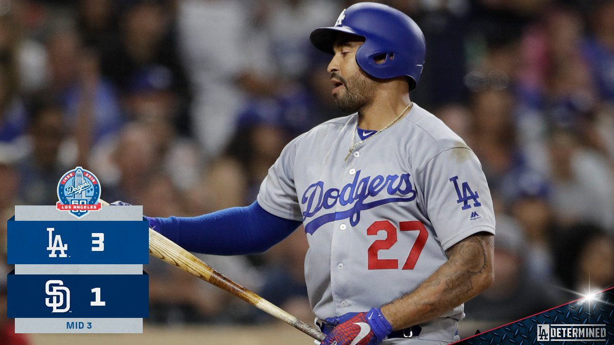 Singles from @TheRealMattKemp and Logan Forsythe get the #Dodgers on top! https://t.co/j3ni7w89s7