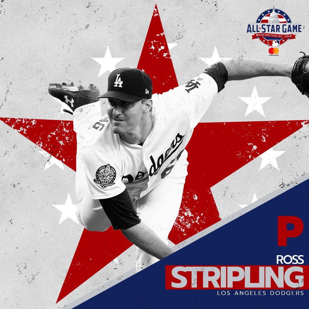 .@RossStripling is named to NL All-Star team to replace Miles Mikolas (pitching Sunday). https://t.co/SLCHzpqxWh
