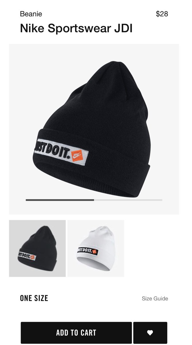 """2aad57655d505 Nike """"Just Do It"""" beanie available in Black and White on Nike Black  https   bit.ly 2uedlLc White https   bit.ly 2zsytCw   snkr twitrpic.twitter.com  ..."""