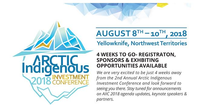 Join us in Yellowknife August 8-10, 2018 for #AIIC2018 https://yfncc.ca/aiic2018/   Supporting economic growth and prosperity by forging new relationships, advancing partnerships, and creating new contacts across the Arctic!  @VaxGroup