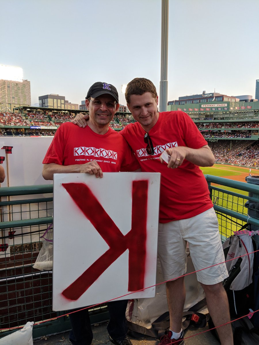 Counting Ks with the original K-Men to support the Jimmy Fund! https://t.co/Uz15cy9wQ5. #saleday #RedSox #dirtywater