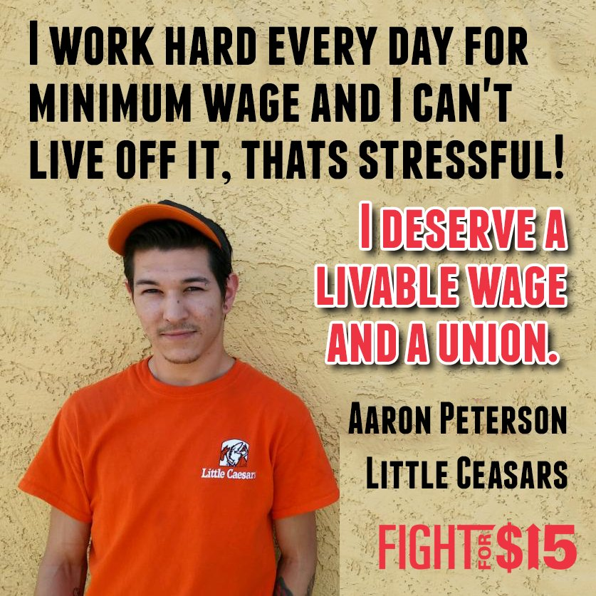 America unions in the fight for true economic equality. #FightFor15