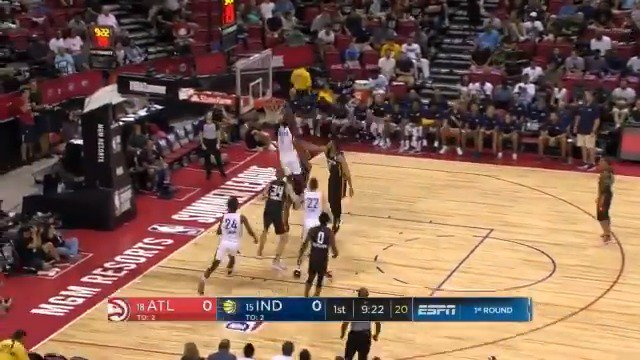 Led by 13 PTS from Alex Poythress, the @Pacers lead the @ATLHawks 62-40 at the break.   #NBASummer https://t.co/irhSErEnNU
