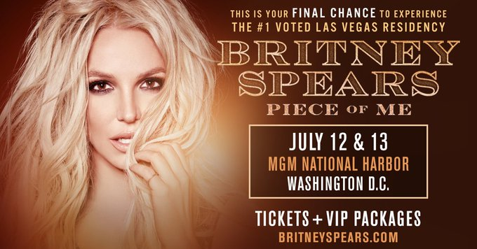 DC! Are you ready for #PieceOfMe tomorrow night?! Foto