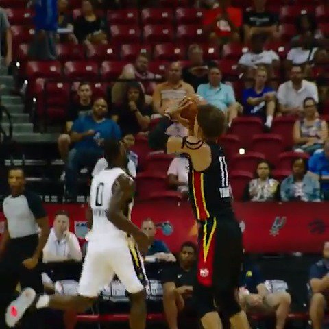 Trae Young knocks down the the three in #PhantomCam!  #NBASummer https://t.co/XoAga9wM5d