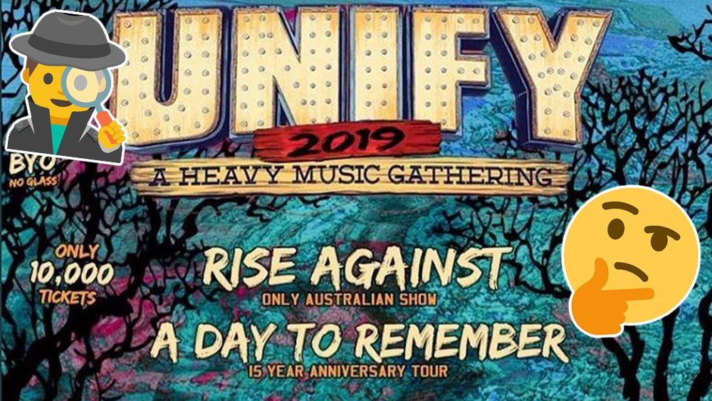 .@unifygathering offers 2019 line-up clues in response to fake poster ab.co/2Jk2ioe