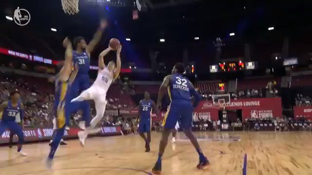 JP Tokoto patrols the paint early for the @warriors!  #NBASummer on @NBATV https://t.co/bjTexTPzzV