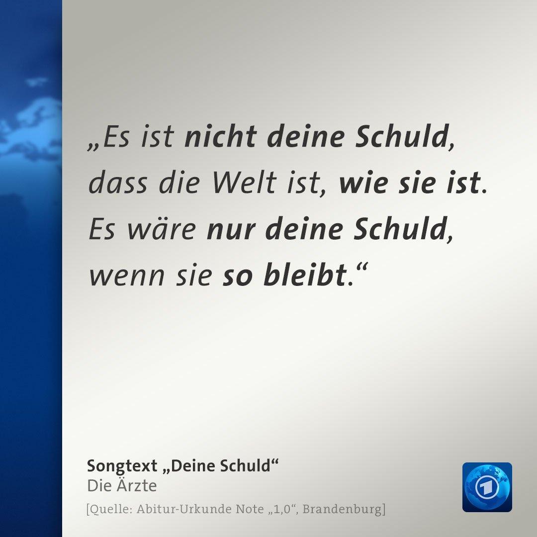 """Für die Note 1,0 im Abitur gibt es in Brandenburg eine spezielle Urkunde. Darauf kein Zitat von Goethe, Schiller  oder Heine – sondern von der """"besten Band der Welt"""", wie sich """"Die Ärzte"""" selbst bezeichnen."""