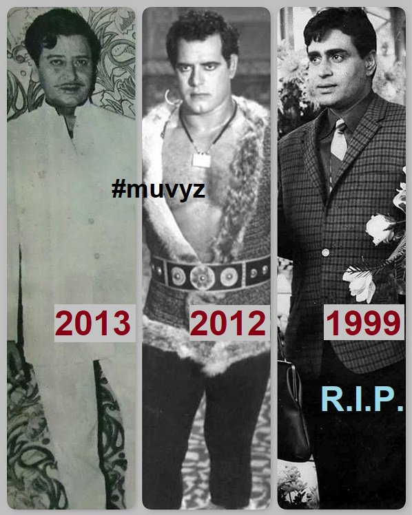 Remembering Bollywood greats on death anniversary #12Jul  #Pran (2013) #DaraSingh (2012) #RajendraKumar (1999)  #BollywoodFlashback #muvyz071218 #GoodMorningWorld<br>http://pic.twitter.com/vTXZxw4T5Z