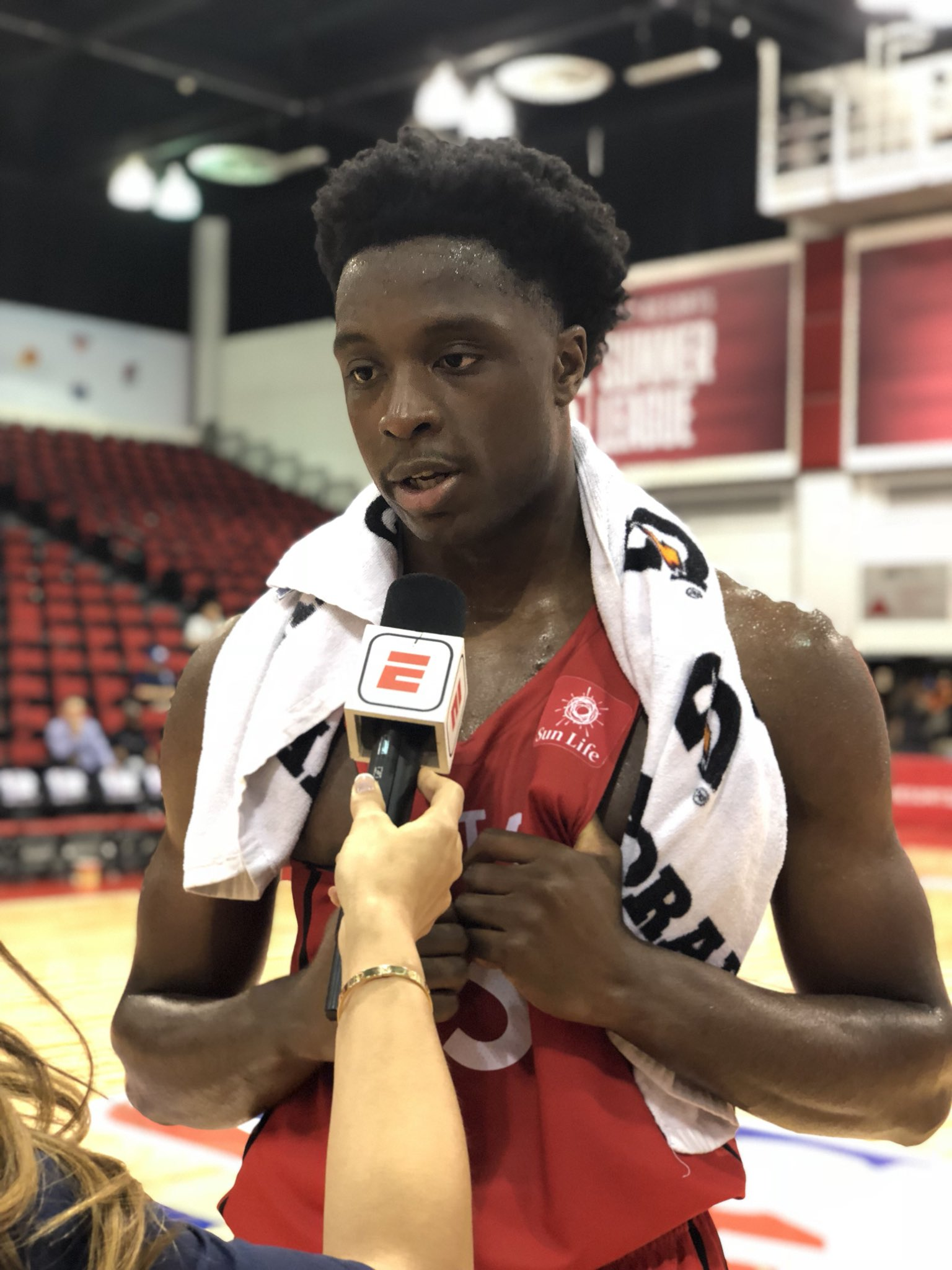 OG Anunoby scores a game-high 22 PTS to help the @Raptors advance in the @NBASummerLeague playoffs! #NBASummer https://t.co/lMJMb6GiEd