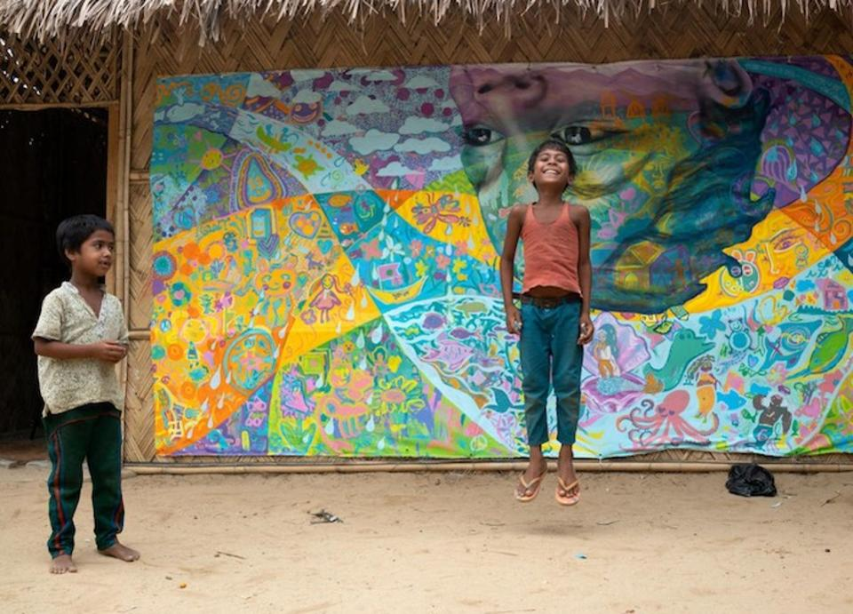 UNICEF USAVoice: Mural painting brings smiles to Rohingya children healing from trauma https://t.co/XXB4mmXQ0D https://t.co/jum6OGY02S