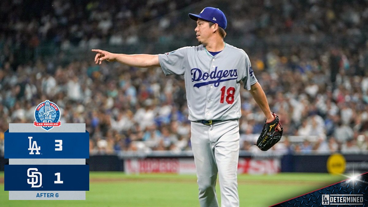 To the seventh inning we go, @kikehndez is due up. #Dodgers https://t.co/FuadFuq80q